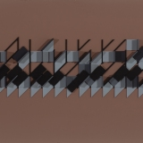 'Untitled Construction # 10', Acrylic and wood on board, 16.0 x 52.0 x 4.0cm, 1985. Photography: Michel Brouet.
