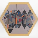 'Untitled construction', Acrylic, card and wood on board, 107 x 122 x 6cm, 1984. Photography: docQment.