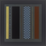 'Untitled Grey Painting No 7', Acrylic on canvas, 73 x 73cm, 1990. Photography: Michel Brouet.