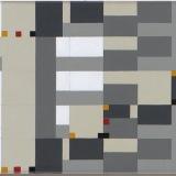 '(2,3,8) x 7 rotations – 6', Acrylic on canvas, 16.0 x 105.0cm, December 2017.
