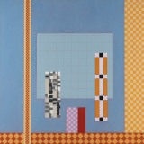 'View',  Acrylic on canvas, 76 x 76cm, 2014. Photography: docQment.