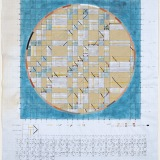 'Constellation', Acrylic, watercolour and pencil on graph paper, 70.0 x 59.0cm (paper size), 20th July 2018. Photography: Michel Brouet.