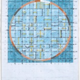 '(2,5,8)', Acrylic , ink and watercolour on graph paper, 29.5 x 21cm (paper size), 21st July, 2018. Photography: Michèle Brouet.