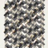 '(1,3,5) Subtractive x 32', Acrylic and ink on paper, 44 x 34cm, April 2012. Photography: Michel Brouet.