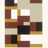 '(2,3,5) x 8, Fragment VI', Acrylic on paper, 20 x 15cm, August 2016. Photography: Michel Brouet.