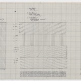 'Working Drawing', Pencil on graph paper, 33.5 x 78.0cm (paper size), October 1976. Photography: Michel Brouet.