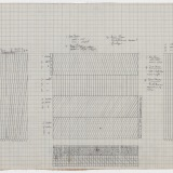 'Working Drawing', Pencil on graph paper, 39.0 x 80.0cm (paper size), October 1976. Photography: Michel Brouet.