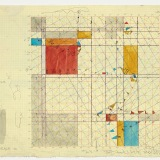 Untitled working drawing Acrylic, watercolour and ink on graph paper, 42.5 x 61.0cm (paper size), 1982. Photography: Michel Brouet.