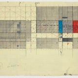 Untitled working drawing, Acrylic, watercolour and ink on graph paper, 42.5 x 61.0cm (paper size), 1982. Photography: Michel Brouet.