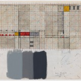 'Working Drawing', Mixed media on Graph paper, 42.0 x 59.5cm (paper size), 1983. Photography: Michel Brouet.