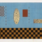 'Untitled No. 32', Acrylic, ink, watercolour and collage on paper, 25.0 x 61.0cm, August 1992. Photography: Michèle Brouet.