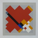 'Geometric Variation VII', Screen print on paper, 36 x 36cm, 1991. Photography: Self.