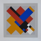 'Geometric Variation VI', Screen print on paper, 36 x 36cm, 1991. Photography: Self.