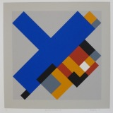 'Geometric Variation IV', Screen print on paper, 36 x 36cm, 1991. Photography: Self.
