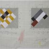 'Working drawing relief-Method 1', Acrylic and pencil on graph paper, 35.5 x 50.7cm (paper size), Late 1990. Photography: Michel Brouet.