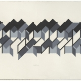 'Untitled # 6', Acrylic on paper, 18.5 x 55.5cm (image size), October 1983. Photography: Michel Brouet.
