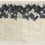 Working Drawing (2,3,5,8), Acrylic, ink and pencil on graph paper, 15.0 x 38.3cm (paper size), September 1983. Photography: Michel Brouet.