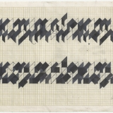 Working Drawing (2,3,5), Acrylic, ink and pencil on graph paper, 20.2 x 30.0cm (paper size), September 1983. Photography: Michel Brouet.