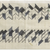 Working Drawing (3,5,8), Ink and pencil on graph paper, 15.0 x 38.3cm (paper size), September 1983. Photography: Michel Brouet.
