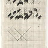 Working Drawing (3,5,8), Ink and pencil on graph paper, 30.0 x 20.2cm (paper size), September 1983. Photography: Michel Brouet.