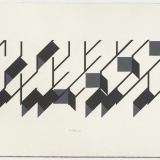 'Untitled # 4', Acrylic on paper, 17.5 x 54.0cm (image size), September 1983. Photography: Michel Brouet.