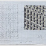 '(2,3,5) x 15 rotations', Acrylic, ink and pencil on graph paper, 29 x 44.5cm (paper size), November 2013. Photography: docQment.