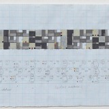 '(2,3,5) x 5 rotations', Acrylic, ink and pencil on graph paper, 20 x 43 cm (paper size), June 2013. Photography: docQment.