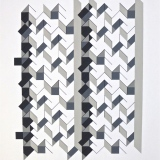 '(2,5,8) Subtractive x 6', Acrylic and ink on paper, 44 x 34cm, June 2012. Photography: Self.