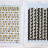 '(1,2,3) Subtractive, 80 Rotations', Number sequence and working drawing, Pencil, ink and acrylic on graph paper, 29.8 x 21.1cm (paper size, each sheet), July 2011. Photography: Self.