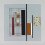Working construction, Acrylic, card and wood on board, 40 x 40 x 1cm, 1990. Photography: docQment.