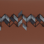 'Untitled Construction # 12', Acrylic and wood on board, 16.0 x 102.0 x 4.0cm, 1985. Photography: Michel Brouet.