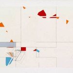 'Untitled construction', Acrylic, card and wood on board, 64 x 203 x 10cm, 1982. Photography: Michel Brouet.