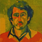 'Self portrait', Oil on canvas, 55.5 x 50.ocm, October 1974. Photography: Self.