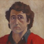 'Self portrait', Oil on canvas, 30 x 30cm, September 1974. Photography: Self.