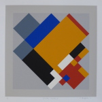 'Geometric Variation V', Screen print on paper, 36 x 36cm, 1991. Photography: Self.
