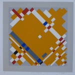 'Geometric Variation III', Screen print on paper, 36 x 36cm, 1991. Photography: Self.