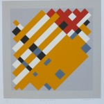 'Geometric variation II', Screen print on paper, 36 x 36cm, 1991. Photography: Self.