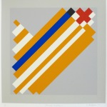 'Geometric Variation I', Screen print on paper,  36 x 36cm, 1991. Photography: Self.