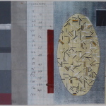 'Untitled no. 22', Acrylic and collage on graph paper', 18.0 x 27.5cm 1990. Photography: Self