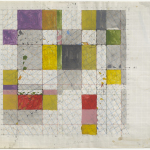 Working Drawing, Mixed media on graph paper, 59.0 x 84.0cm (paper size), January 1983. Photography: Michel Brouet.